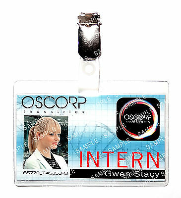 Spiderman Oscorp Industries Gwen Stacy Marvel Cosplay Prop Comic Con - Gwen Stacy Oscorp
