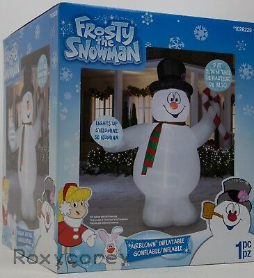 Gemmy Christmas 9 ft Frosty the Snowman w/Candy Cane Airblown Inflatable NIB