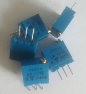 Vishay Trimmer T93YA202 2kΩ, 10% - Italia - Vishay Trimmer T93YA202 2kΩ, 10% - Italia