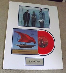 Biffy Clyro 'The Captain-Opposites' signed by all 3 and mounted display - COA