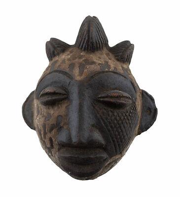 Mask Diminutive African Ibibio Pasport Divination Terracotta 6497