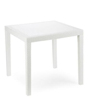 Great Gartentisch King Weiss Wetterfest Tisch X Cm Balkontisch Polyrattan  Optik Gebraucht Kaufen Nottuln With Gartentisch Wei Ausziehbar