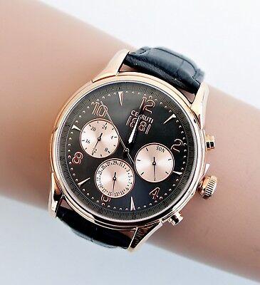 CERRUTI Reloj de Hombre cra107sr13gy Bellagio Color Gris Rosa Oro Nueva