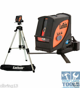 Lufkin Multi Line Laser Level + Plumb Dot Kit & Tripod - LCL4SET