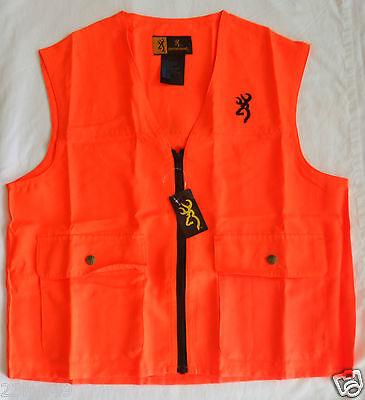 BROWNING hunting shooting junior safety vest NEW blaze orange YOUTH LARGE