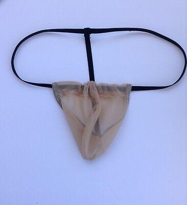 Secret Pouch Mens Mesh net g-string Thong Nude ()