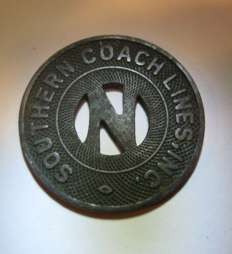 """Southern Coach Lines Token, """"Good For One School Fare""""   23 mm"""