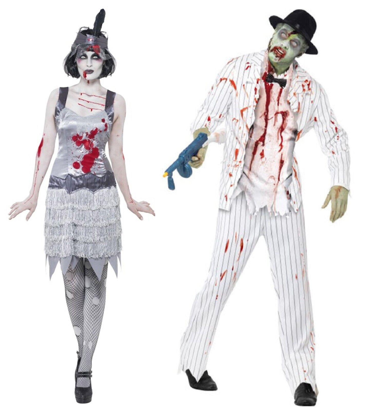 couples fancy dress zombie ghost gangster flapper halloween costumes