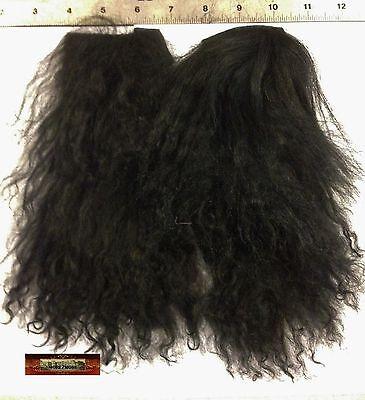 M00586 MOREZMORE Tibetan Lamb Remnants NATURAL BLACK Doll Baby Hair Wig NSS