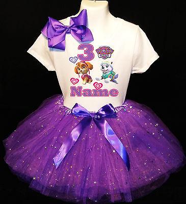 Paw Patrol 3rd Birthday dress --With NAME-- party Tutu outfit](Paw Patrol Dress)