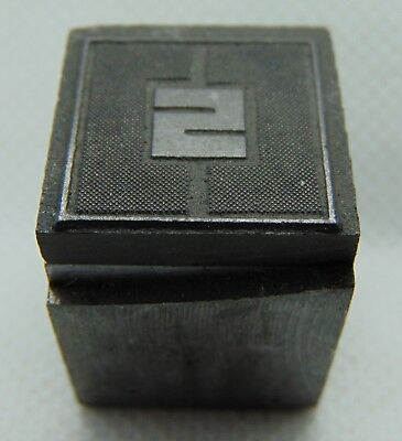 Vintage Printing Letterpress Printers Block Fancy Letter S