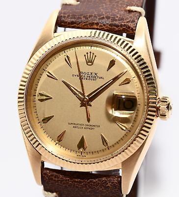 Rolex Datejust Ref.6605 Bj.1957 Vintage Uhr 750er Gold für Damen und Herren