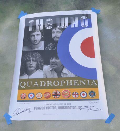 The Who Quadrophenia Signed Lithograph Poster Tour 2013 Washington, DC