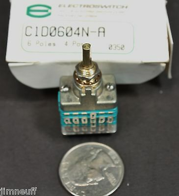 Electroswitch C1d0604n-a Rotary Switch 6 Poles 2-4 Positions 28 Vdc125 Vac
