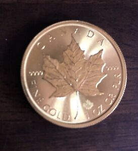 GOLD maple leaf 1 OZ coin 9999 2017