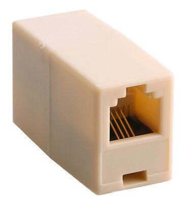 Rj11 Buchse Telefon (1x Kupplung Adapter Verlängerung Verbindung RJ11 Telefon Festnetz Buchse 6p4c)
