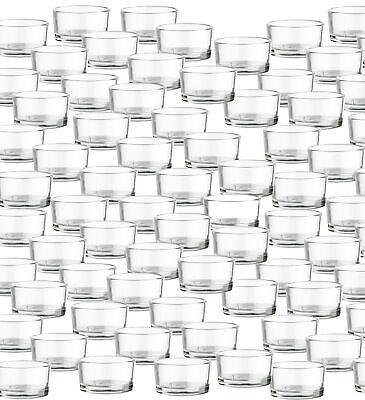 12-132 Teelichthalter Set Delux Teelichtgläser Windlicht Glas klar Kerzenständer
