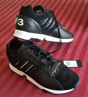 👟 Adidas Y-3 ZX Run G54062 9.5 Black Yohji Yamamoto Sneakers Trainers Shoes NWT