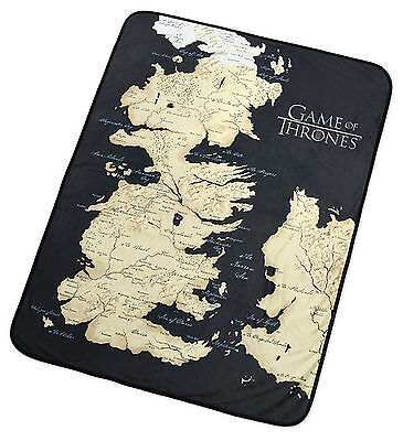 Game of Thrones - Map of Westeros Fleece Blanket Throw