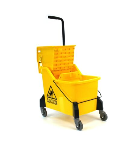 Large Size Mop Bucket With Side Press Wringer, 44 Quart Capacity