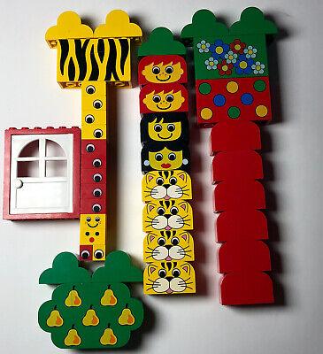 Vintage Lego Duplo Printed Parts Pieces DAMAGED