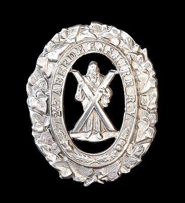 2nd Aberdeenshire Rifle Volunteers Cap Badge Hallmarked Silver