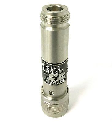 Weinschel Engineering Model 44-3 Fixed Coaxial Rf Attenuator 3dbdc-18ghz5w