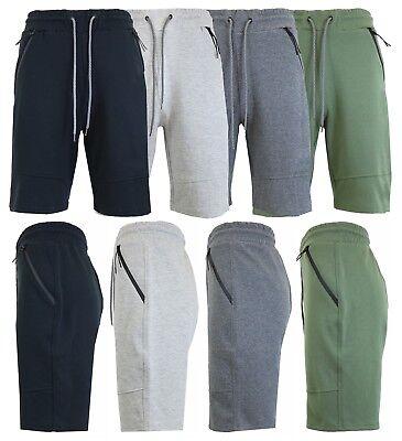 Mens Tech Fleece Shorts With Zipper Pockets Gym Lounge Sports Running Sweats NWT