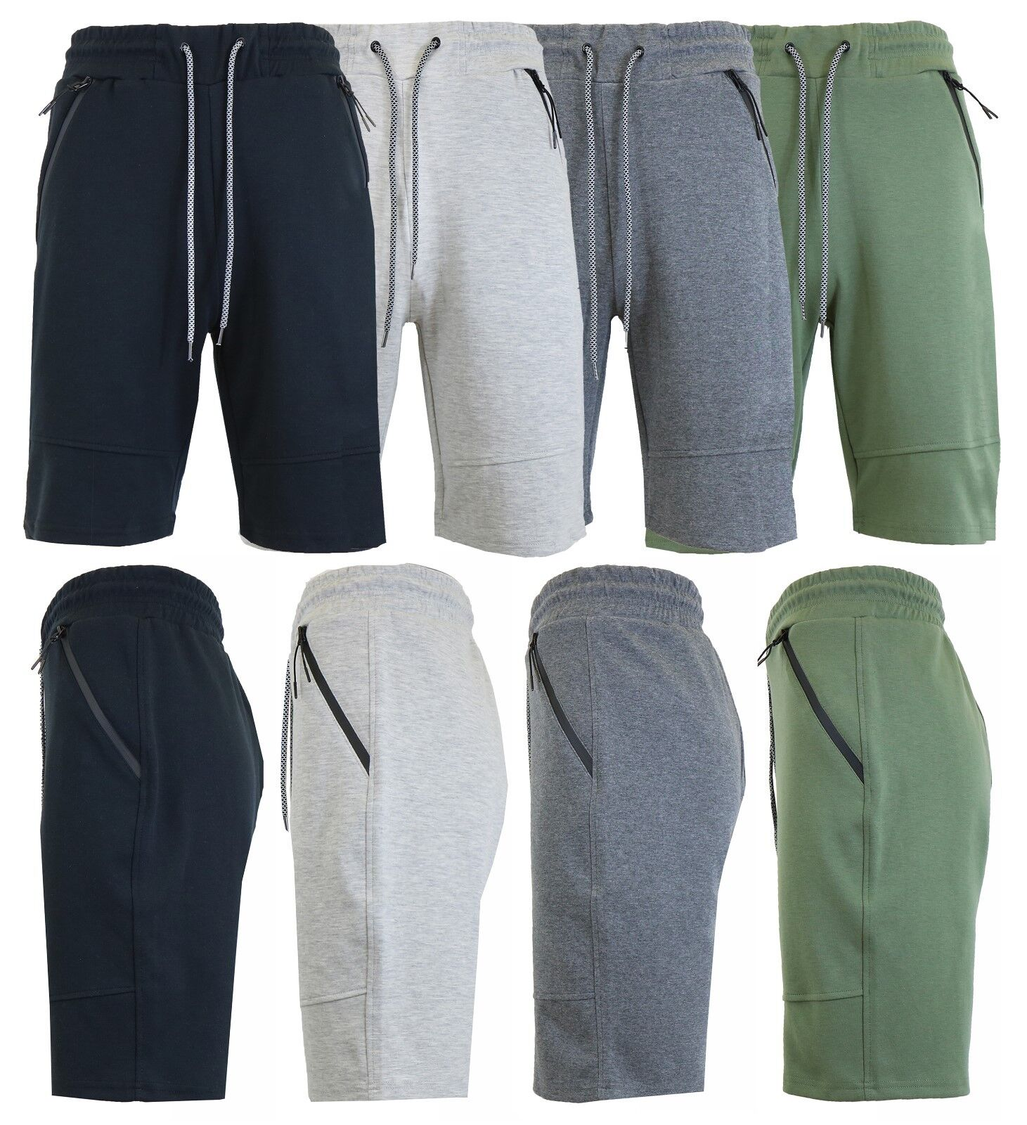 Mens Tech Fleece Shorts With Zipper Pockets Gym Lounge Sports Running Sweats NWT Clothing, Shoes & Accessories