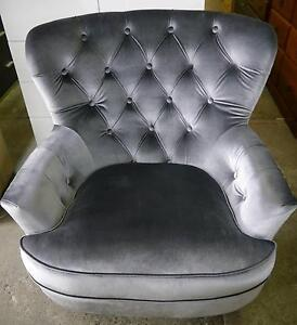 RRP$995 New French Provincial Queen Anne Pewter Armchair Chair Melbourne CBD Melbourne City Preview
