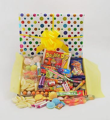 Mix Sweets Gift Box - Super RETRO SWEETS Gift Box Large Mix Birthday Thank you Get Well His Hers