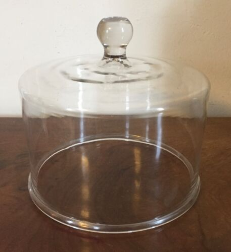Antique Blown Glass Dome Cover for Cake or Cheese 19th century