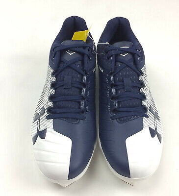 9af5f4a65aac New Under Armour Yard Low St Baseball Cleat Men s Size 9.0 3000353 Navy  White