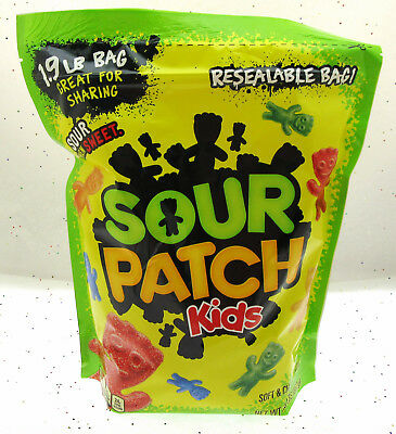 Sour Patch Kids ~ Sour Then Sweet Candy ~ Resealable Bag! ~ 1.9 LBS Bag - Sour Patch Halloween Candy