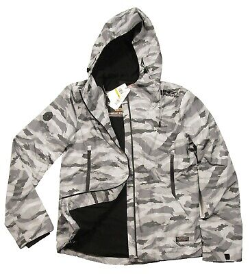 Superdry Men's Ice Camo Arctic Eite Windcheater Full Zip Hooded Jacket
