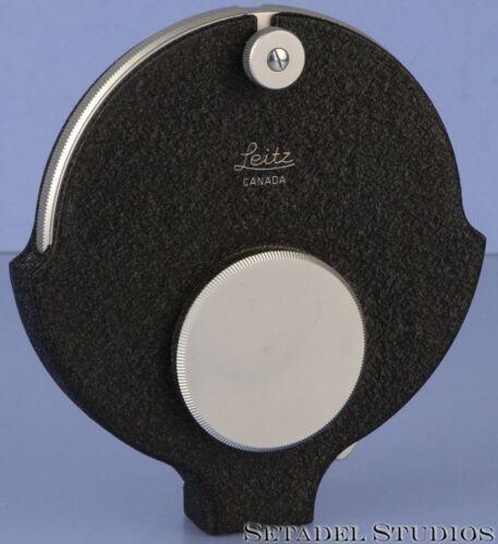 LEICA LEITZ 14116 VISO VISOFLEX M CAMERA LENS TURRET TRI FILTER RING +CAPS MINT