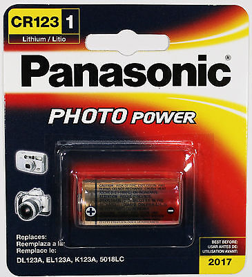 1PC Panasonic CR123A 3 Volt Photo Lithium Battery - Retail Pacakge, Best by