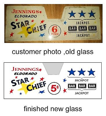 Jennings Replacement glass now with fitted clear cover any model,coinage