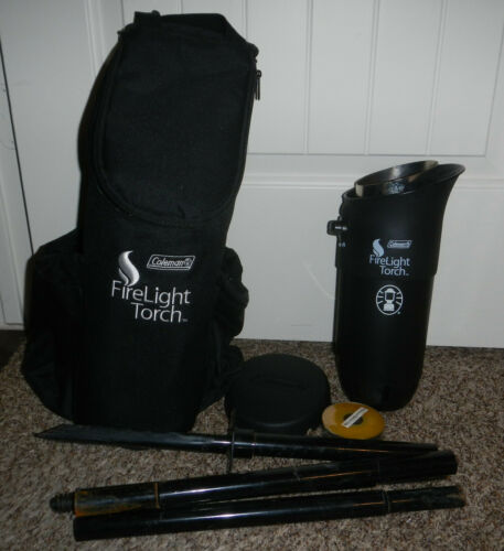 Coleman FireLight Propane Tiki Torch with Citronella Ring & Bag