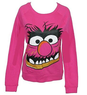 Muppets Animal Hoodie (The Muppets Girls Juniors Pull Over Light Sweatshirt -  Giant Animal Face)
