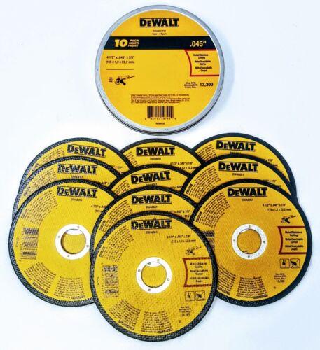 """(Box of 10) DEWALT DWA8051 DWA8051T10 4-1/2""""x.045""""x7/8"""" T1 Metal Cut-off Wheel"""