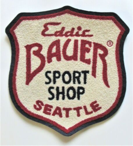 Giant vintage jacket Patch - wool, chenille - EDDIE BAUER SPORT SHOP - SEATTLE