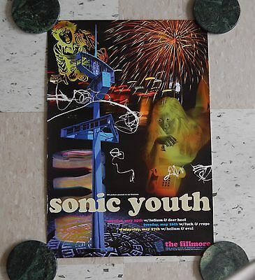 Vintage Original Sonic Youth Concert Poster 5/25/1998 The Fillmore San Francisco