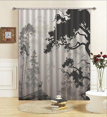 3D Black Forest Sky 120 Blockout Photo Curtain Print Curtains Drapes US Lemon