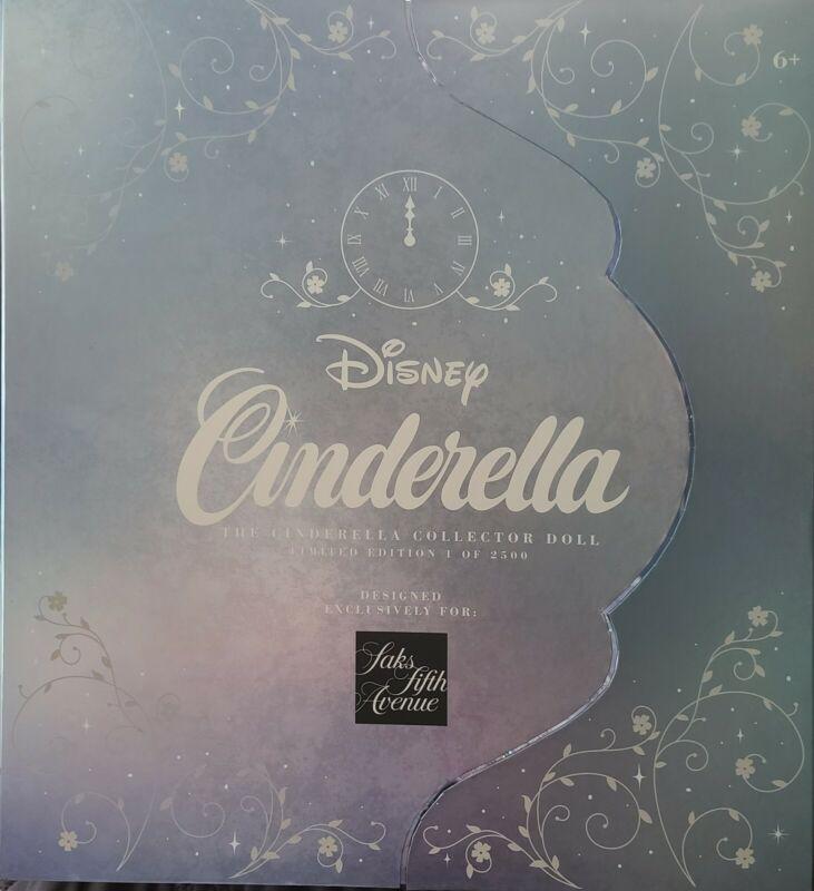 "Limited Edition Saks Fifth Avenue Cinderella 17"" Disney Doll 2500"