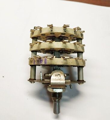 Vintage Rotary 3-layer Switch High Quality Ceramic 2p12