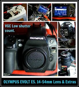 Olympus Evolt E5 , 14-54 lens and extras. Bonogin Gold Coast South Preview