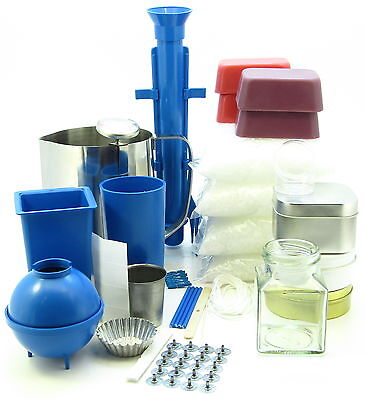 Complete candle making kit ~ Moulds, votive, jug, 2.5Kg wax makes 50 candles