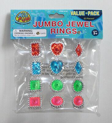 12 Princess Royal Jumbo Jewel Plastic Ring Kid Bday Party Goody Bag Pinata Favor](Princess Party Pinata)
