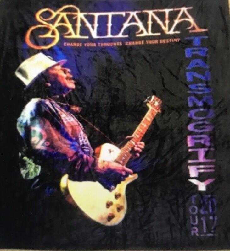 Official Merch Santana 2017 Tour Blanket Transmogrify 50x60